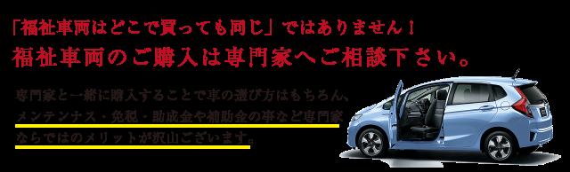 福祉車両の専門家のメリット