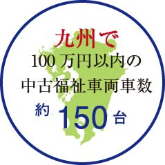 九州で100万円以内の福祉車両の台数